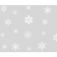Static window stripes Snowflakes